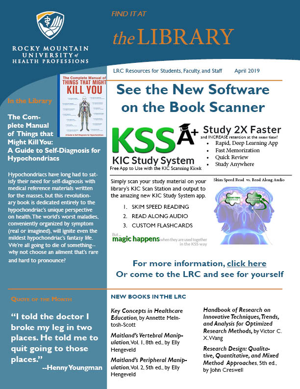 April 2019 LRC Newsletter