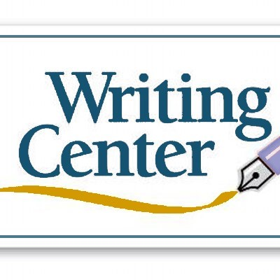 writing center text and calligraphy pen